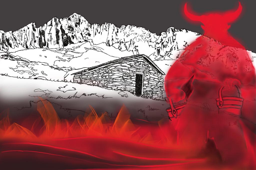 Der Senn und der Teufel auf der Alp Culmatsch