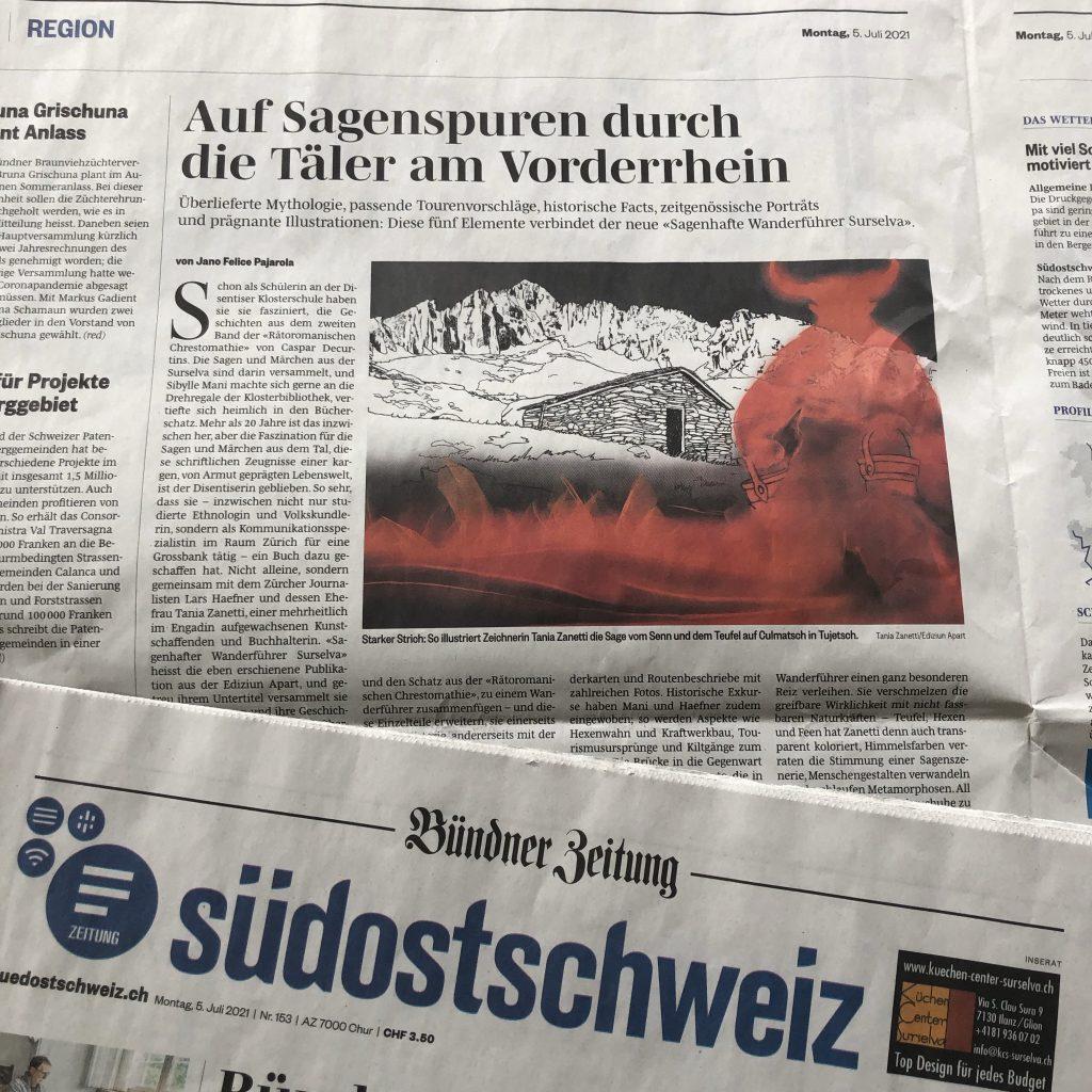 Artikel in der Südostschweiz über den Wanderführer Surselva