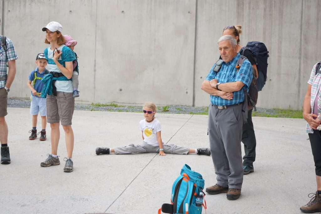 Wandergruppe in Uors