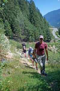 Val Russein, Aufstieg bei der Punt Gronda
