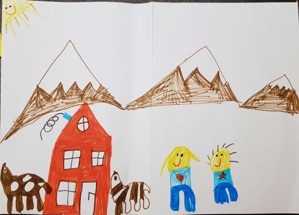 Kinderzeichnung Alp Puzzetta
