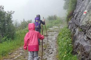 Wandern im Regen