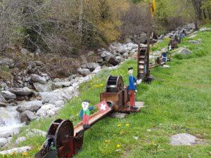 Wasserräder am Clavaniev-Bach oberhalb von Disentis